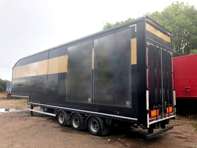 DOUBLE DECK BOX TRI AXLE DON BUR 2011 CJC STOCK NO 108314