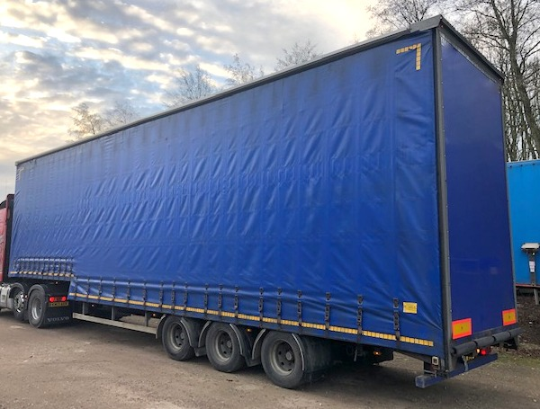 CURTAINSIDE DOUBLE DECK TRI AXLE CARTWRIGHT 4 8M 2008 STOCK NO 108493