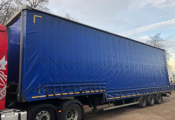 CURTAINSIDE DOUBLE DECK TRI AXLE CARTWRIGHT 4 8M 2008 STOCK NO 108492
