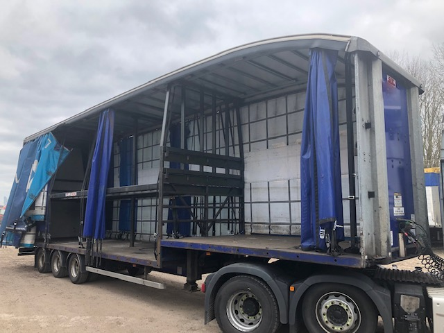 CURTAINSIDE DOUBLE DECK TRI AXLE MONTRACON 4 88M 2012 STOCK NO 108591