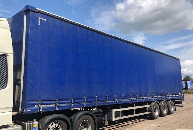 10X CURTAINSIDER TRI AXLE LAWRENCE DAVID 4 678M 2016