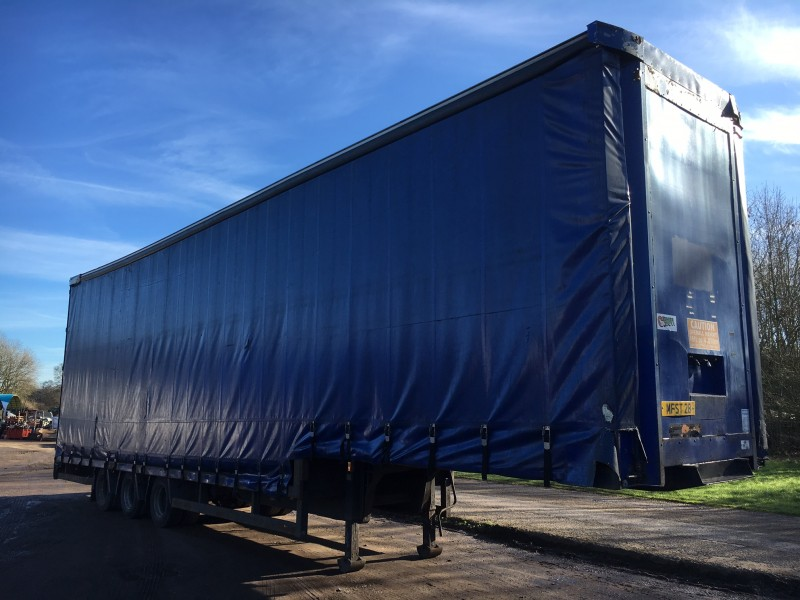 CURTAINSIDE.DOUBLE DECK.TRI AXLE.WILSON.4.87M.2004. STOCK NO 76268