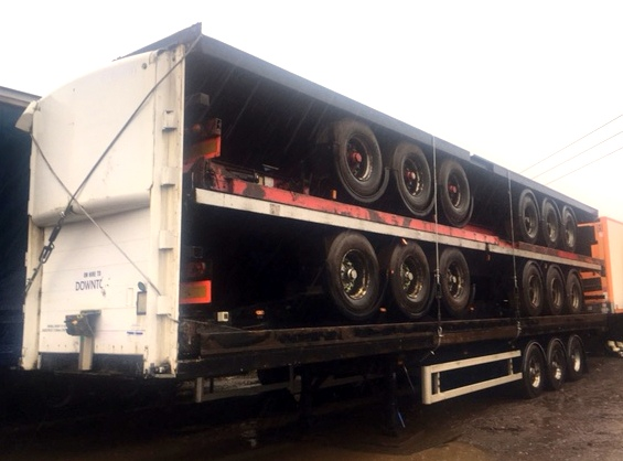 EXPORT STACK OF 5 FLATS TRI AXLE BPW AXLES STACK NO 815