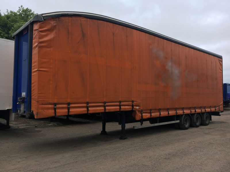 CURTAINSIDE DOUBLE DECK TRI AXLE SDC 4 9M 2007STOCK NO 97692