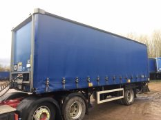 CURTAINSIDER SINGLE AXLE SDC 4M 2009 SLIDE AWAY TAIL LIFT STOCK NO 97856