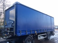CURTAINSIDER TANDEM AXLE SDC 4M 2009 SLIDE AWAY TAIL LIFT STOCK NO 97891