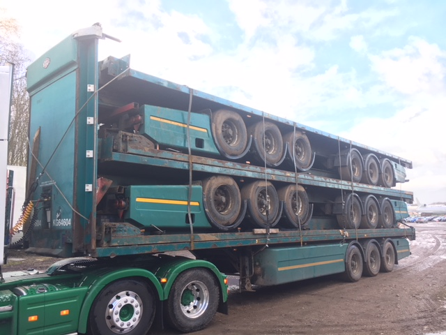 FLAT PACK TRI AXLE CARTWRIGHT 2005 BPW DRUM STACK NUMBER 885