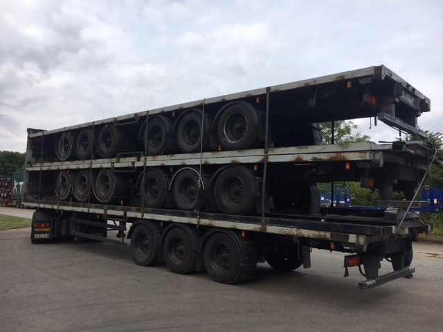 STACK OF 5 TRI AXLE CARTWRIGHT/DENNISON BPW DRUM STACK NUMBER 849